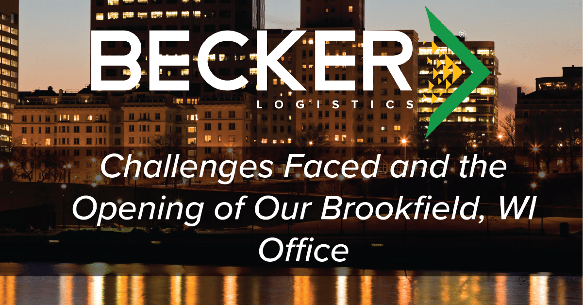 Becker Logistics expansion into Brookfield