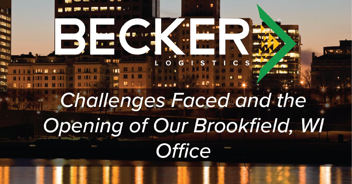 Becker Logistics expansion into Brookfield