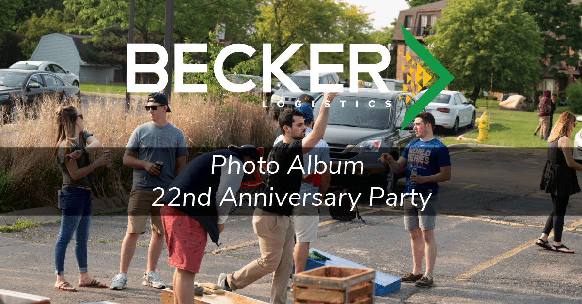Becker Logistics Blog cover photo 22nd anniversary party