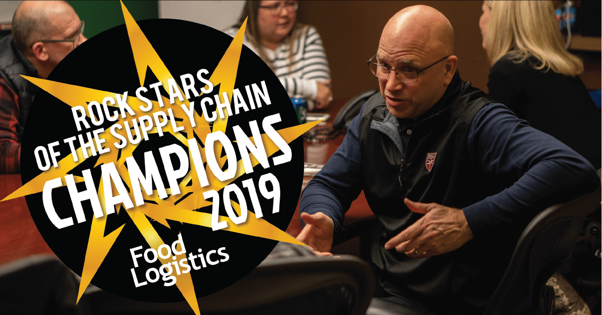 Jim Becker of Becker Logistics winner of the 2019 Food Logistics Champions: Rock Stars of the Supply Chain
