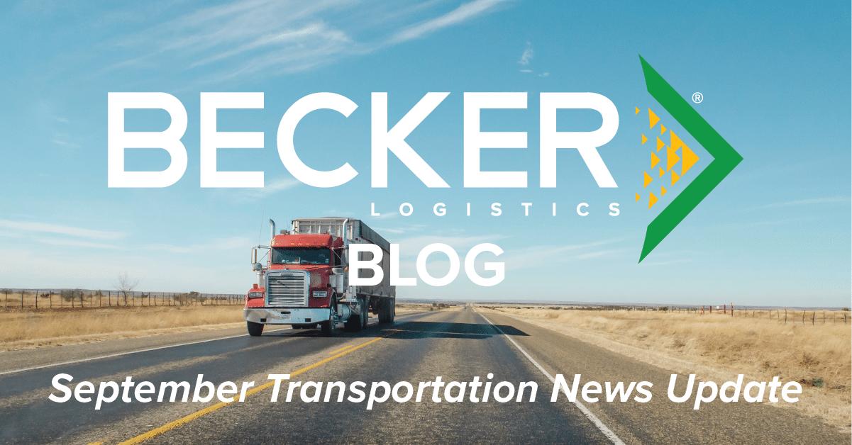 September Transportation News Update Cover Photo