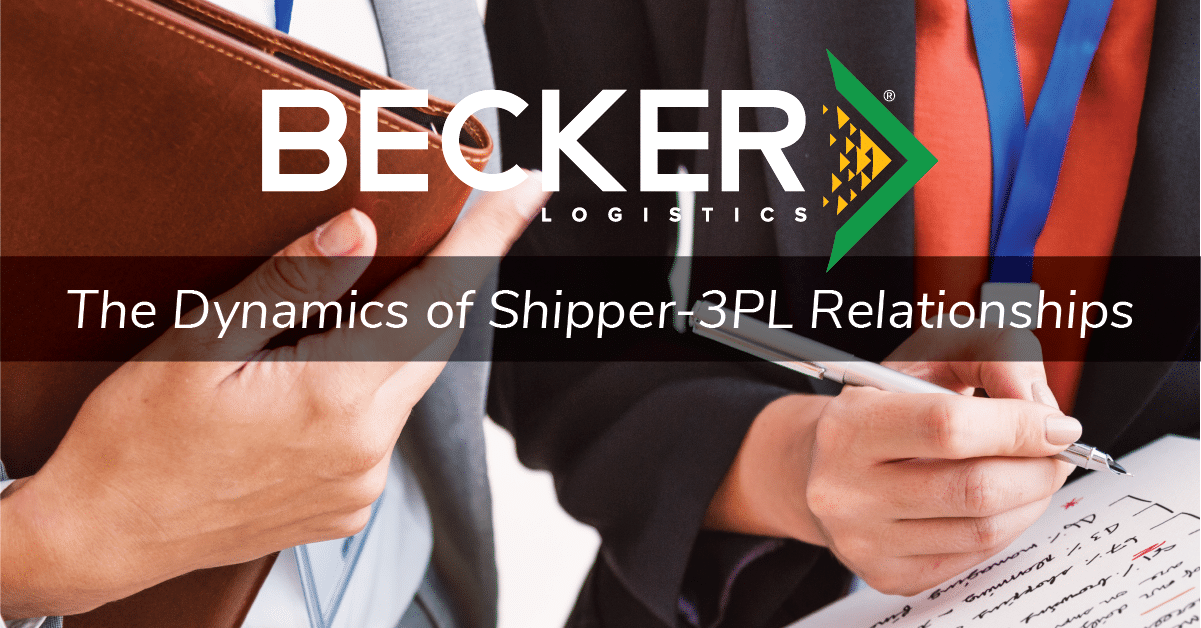 Becker Logistics Cover Photo for 3pl and shipper relations