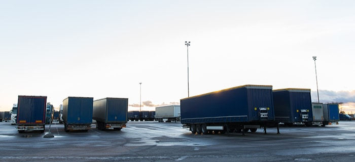 Drop Trailer Shipping yard and trailers