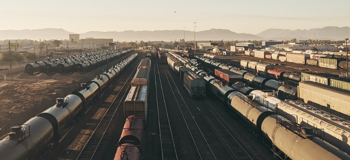 Intermodal Shipping and rail yard