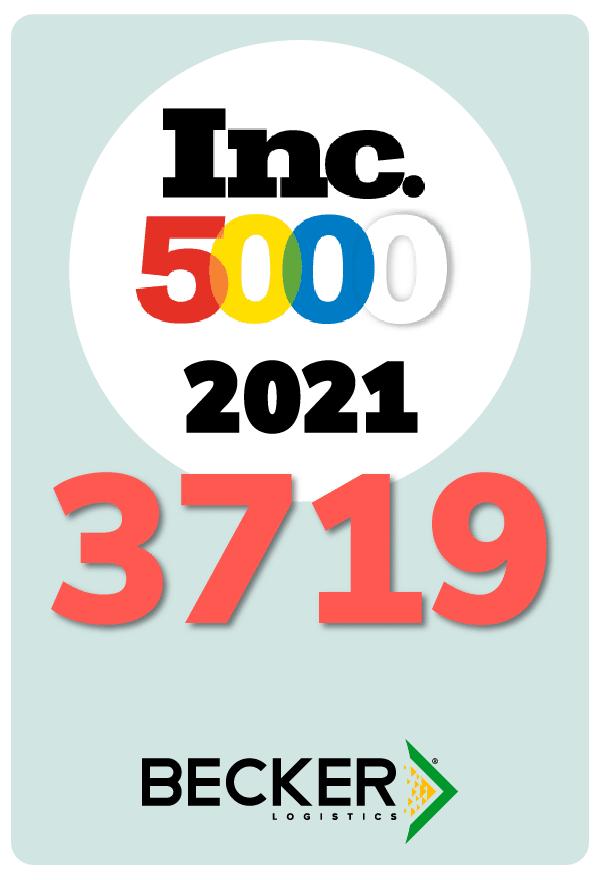 Inc 5000 2021 Becker Logistics Placement Card - 3719